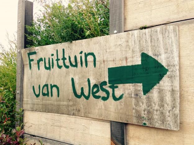 Fruittuin van West bord