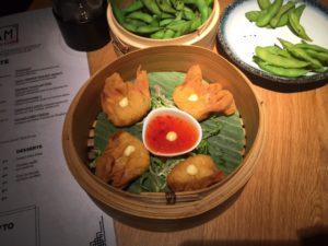 Crispy shrimp dumplings